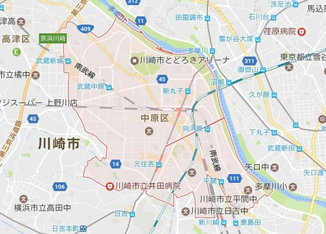 川崎市中原区(神奈川)のNURO光回線対応エリア マンション ...