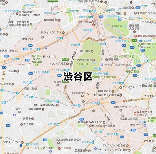 東京都渋谷区 のNURO光対応状況を調べました。