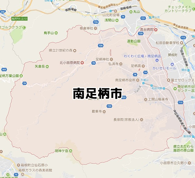 南足柄市(神奈川)のNURO光回線対応エリア マンション・アパート ...