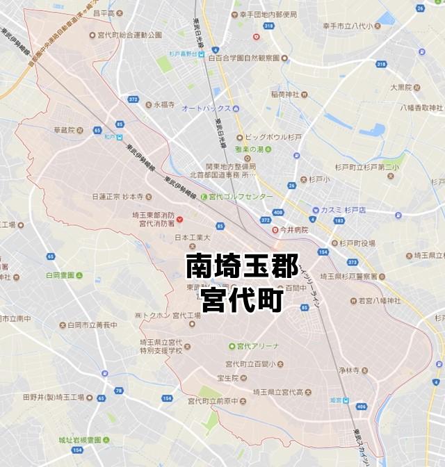 南埼玉郡宮代町(埼玉)のNURO光回線対応エリア マンション・アパート名 ...
