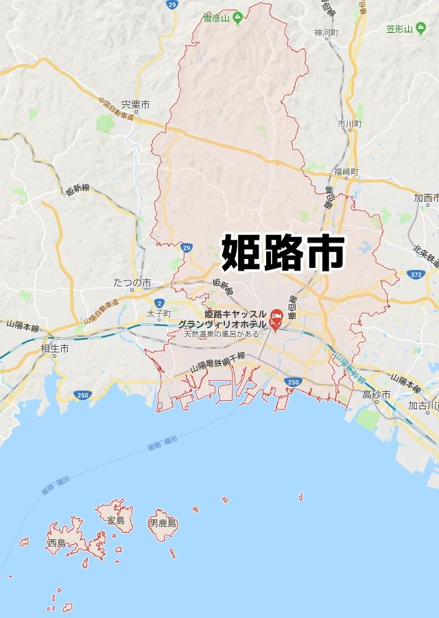 兵庫県姫路市のNURO光対応マップ