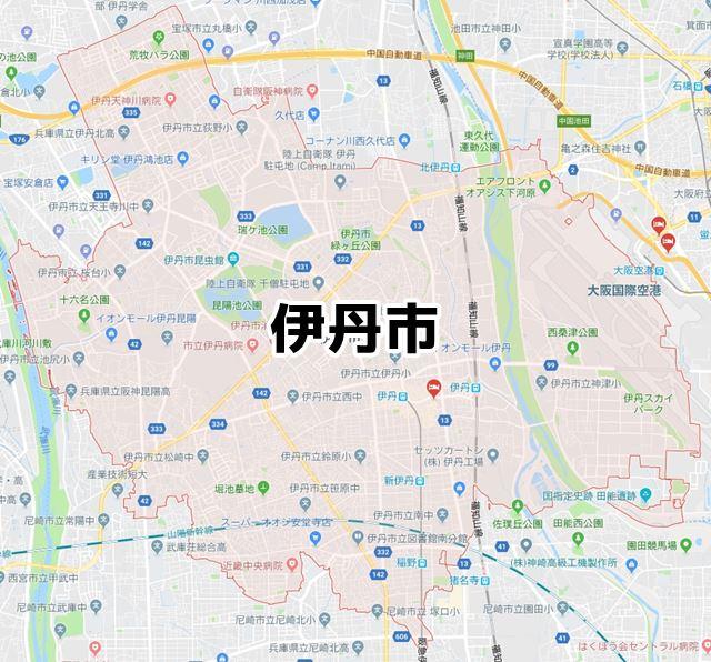 兵庫県伊丹市のNURO光マップ