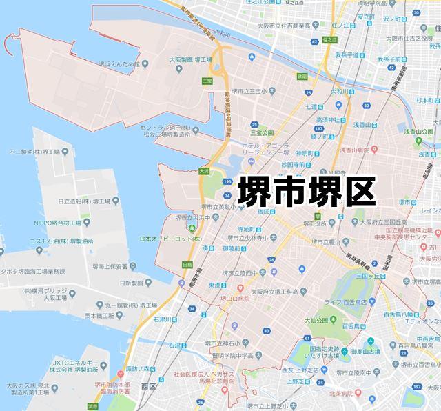 大阪府堺市堺区のNURO光対応マップ