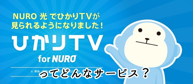 ひかりTV for NUROってどんなサービス?