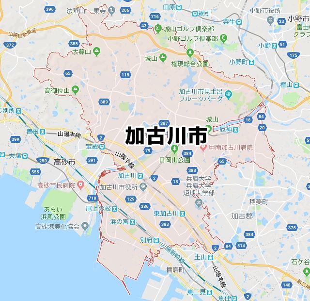 兵庫県加古川市マップ