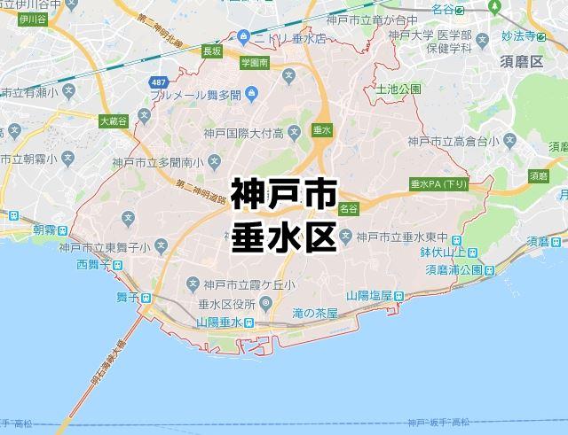 兵庫県神戸市垂水区のマップ