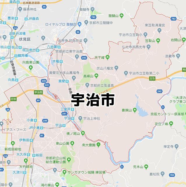 京都府宇治市のマップ