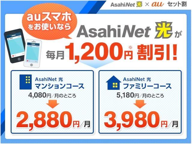 AsahiNet光+auセット割