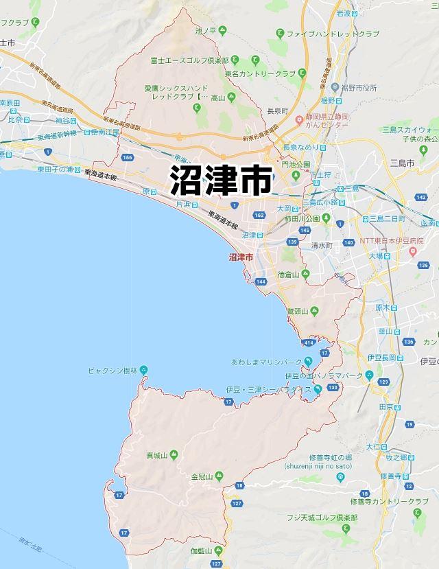 静岡県沼津市マップ