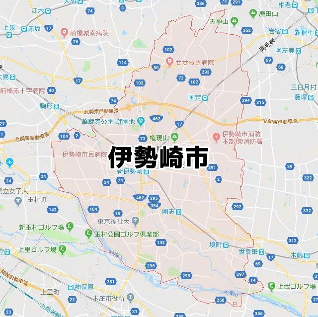 群馬県伊勢崎市マップ