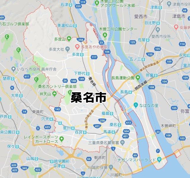 三重県桑名市マップ
