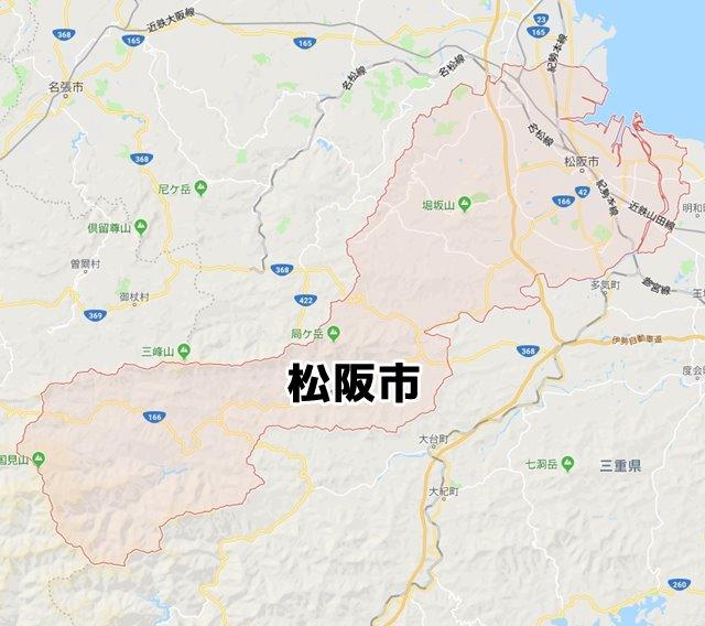 三重県松阪市マップ