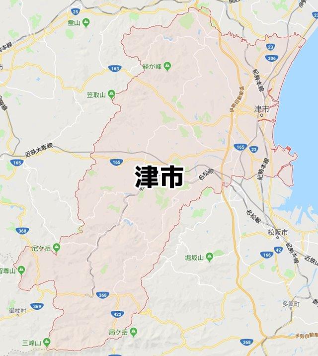 三重県津市マップ