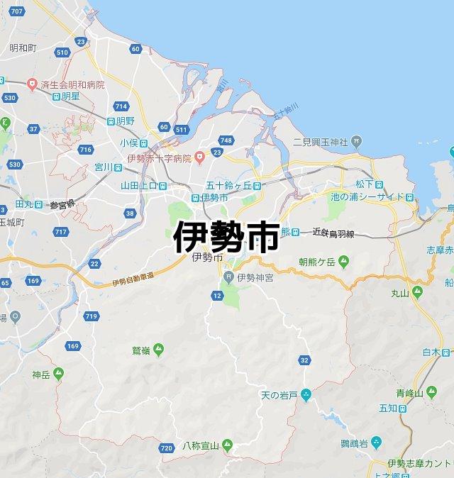 三重県伊勢市マップ