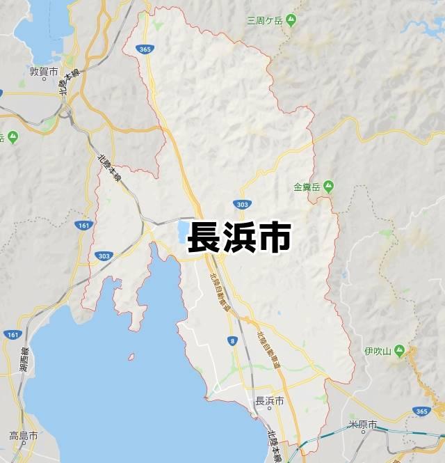 滋賀県長浜市マップ