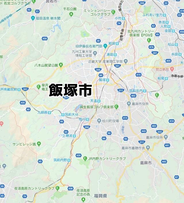 福岡県飯塚市のマップ