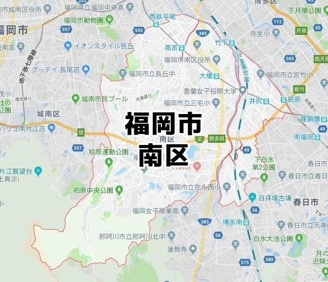福岡県福岡市南区のマップ