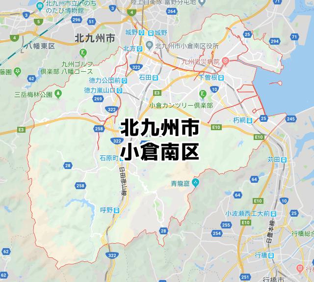 福岡県北九州市小倉南区のマップ