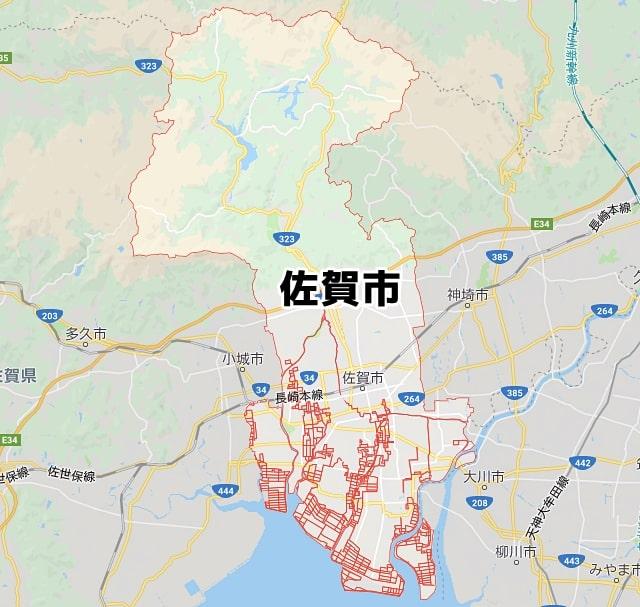 佐賀県佐賀市マップ
