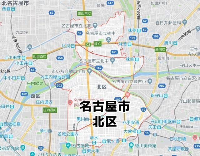愛知県名古屋市北区マップ