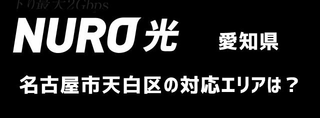 愛知県名古屋市天白区のNURO光対応エリアについて