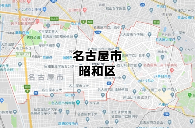 愛知県名古屋市昭和区マップ