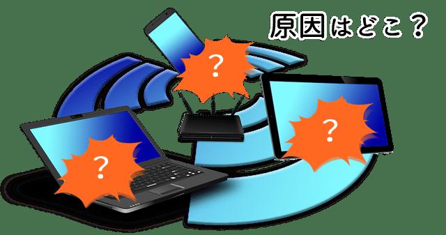 Wi-Fi接続不良の原因調査