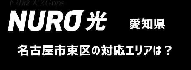 愛知県名古屋市東区のNURO光対応エリアについて