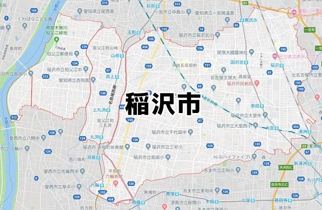 愛知県稲沢市マップ