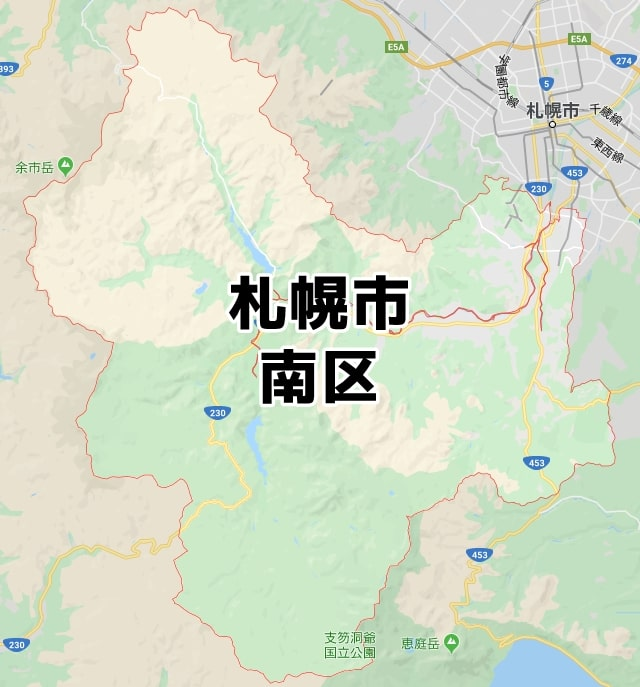北海道札幌市南区マップ
