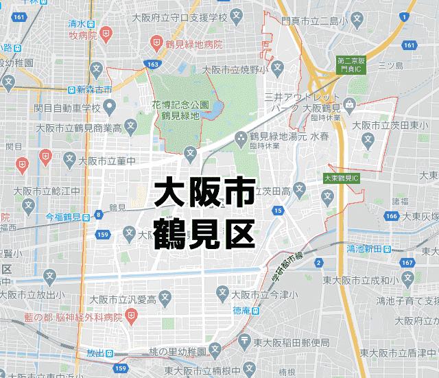 大阪府大阪市鶴見区マップ