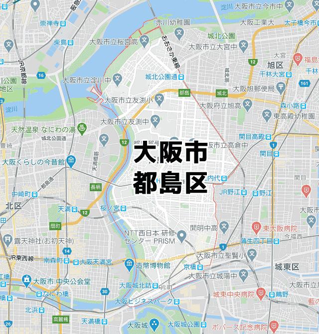 大阪府大阪市都島区マップ