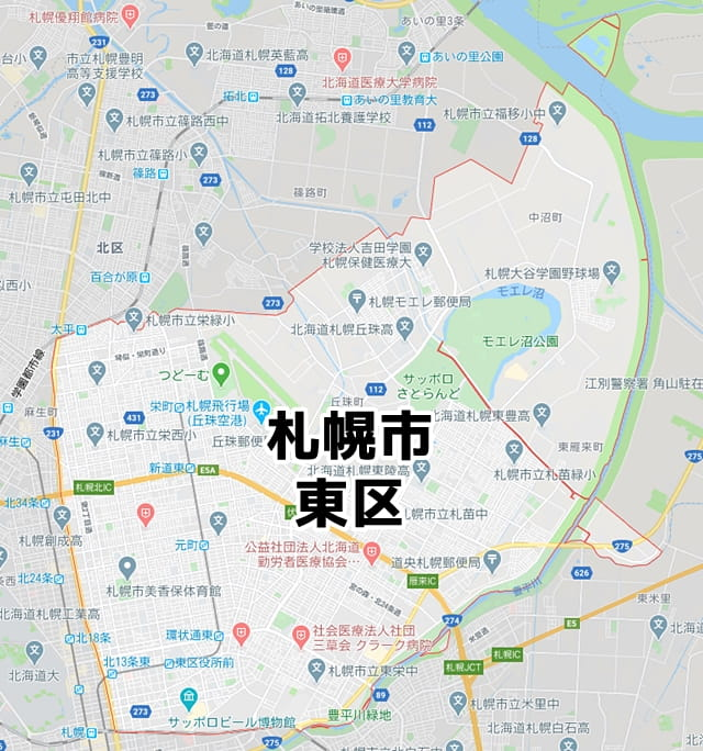北海道札幌市東区マップ