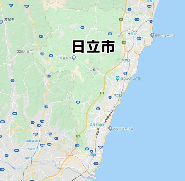 茨城県日立市マップ