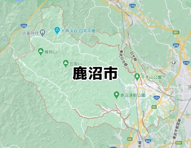 鹿沼市マップ
