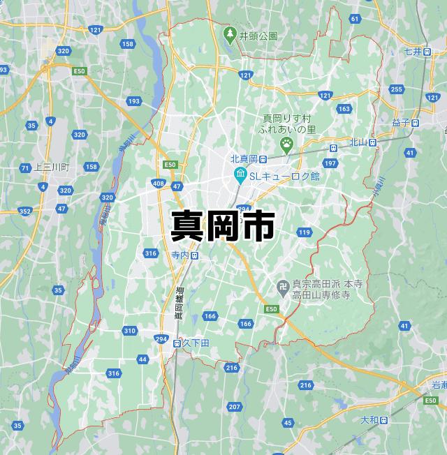 栃木県真岡市マップ