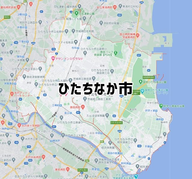茨城県ひたちなか市マップ