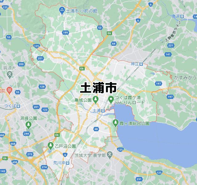 茨城県土浦市マップ