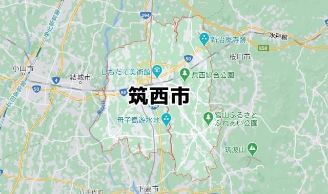 茨城県筑西市マップ